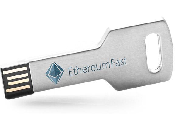 Логотип для криптовалюты «EthereumFast»