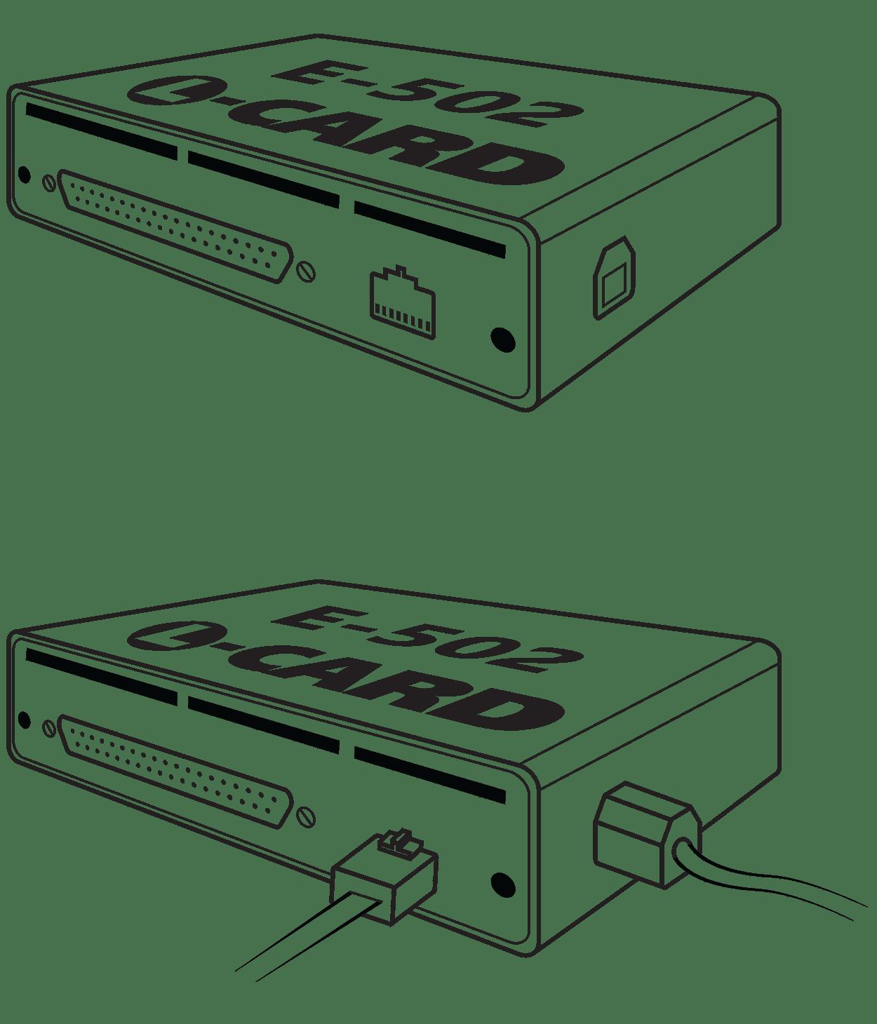 E-502 многофункционый внешний модуль АЦП / ЦАП с интерфейсами ethernet и USB